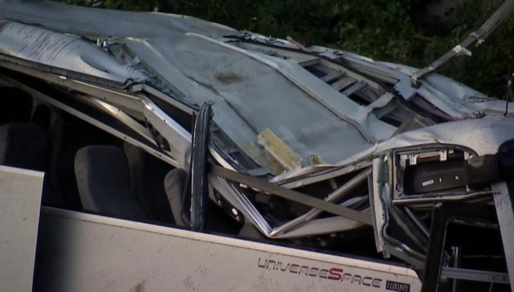 ДТП под Новороссийском: у рухнувшего с обрыва автобуса нет тормозного следа