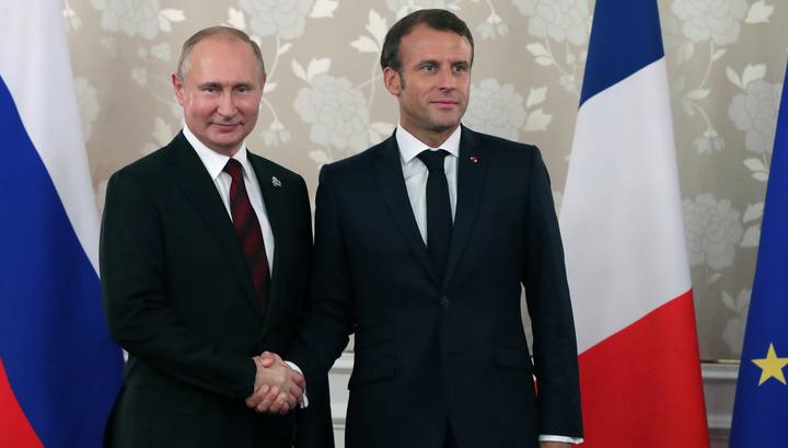 Президенты России и Франции обсудят ситуацию в Сирии и на Украине