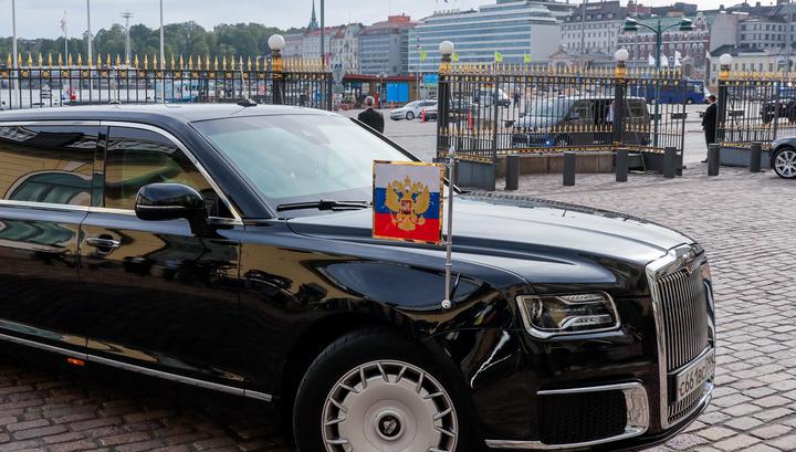 Владимир Путин прибыл в Хельсинки