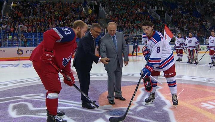 Владимир Путин открыл Кубок мира по хоккею среди молодежных команд