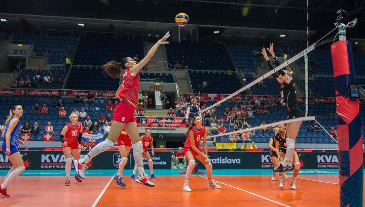 Российские волейболистки добились второй победы на чемпионате Европы