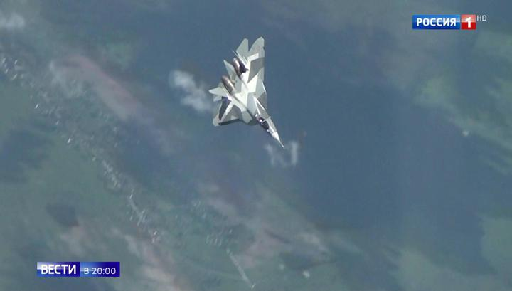 Су-57 вошел в плоский штопор. Видео