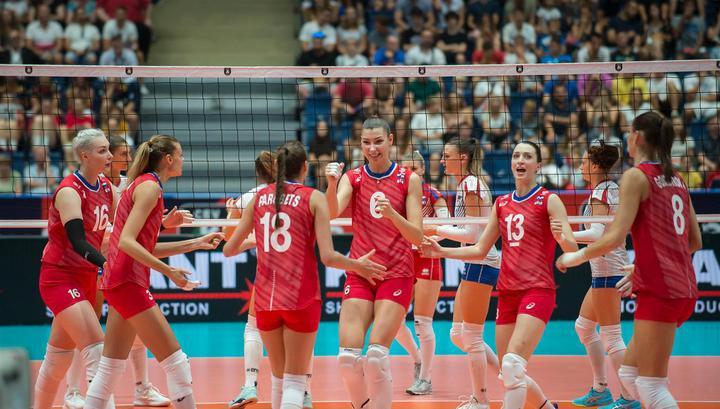 Российские волейболистки нанесли поражение кореянкам