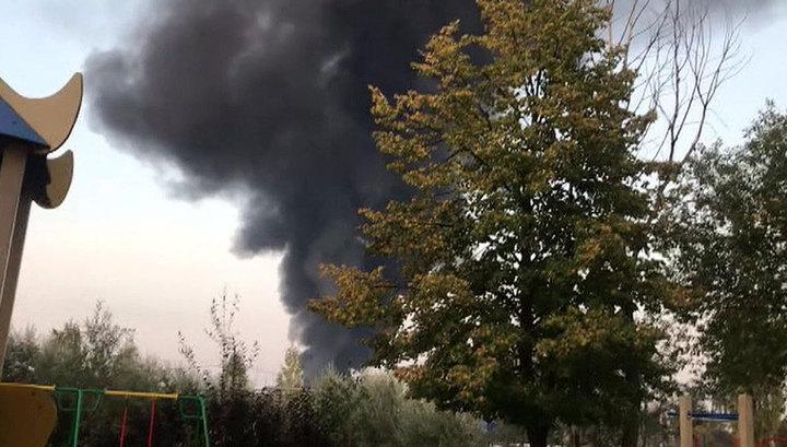 Пожар на складе ГСМ под Нижним Новгородом тушат с помощью специальных поездов