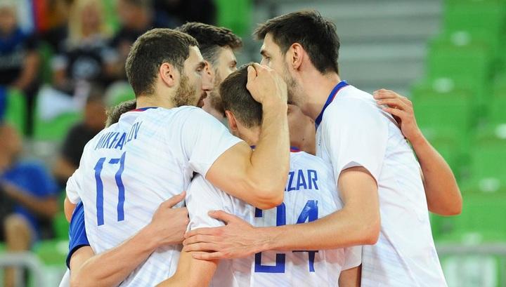 Российские волейболисты одержали победу на старте чемпионата Европы