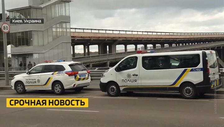 Неизвестный, угрожавший взорвать мост в Киеве, задержан