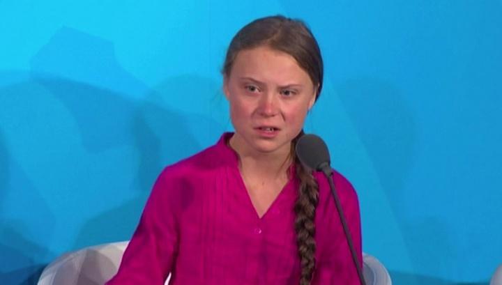 Саммит ООН: шведская школьница обвинила мировых лидеров в краже своего детства