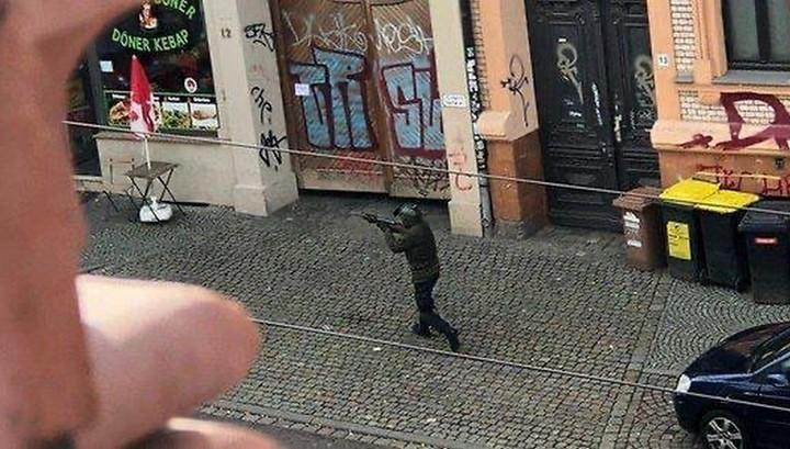 Стрельба в немецком Галле попала на видео