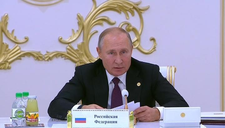 """Путин рассказал о гонке вооружений, торговых войнах и """"пощипывании"""""""