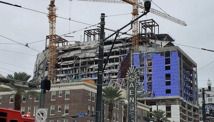 Отель обрушился на рабочих в Новом Орлеане