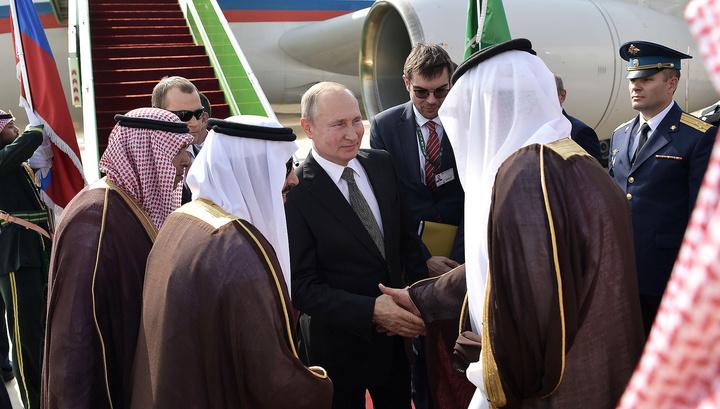 Саудовская Аравия встретила Путина салютом: в центре внимания - экономика и Ближний Восток