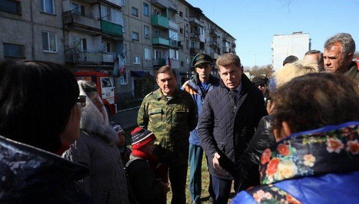 Губернатор Приморья поручил оказать помощь пострадавшим при обрушении дома