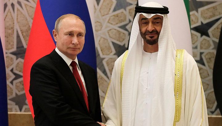 Начались переговоры президента России с принцем Абу-Даби