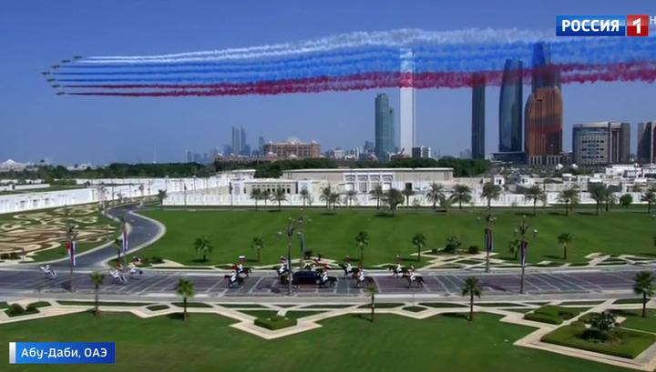 """Эмиратская """"ДПС"""", всадники и истребители: как встречали Путина в ОАЭ"""