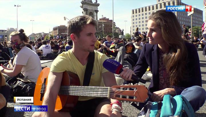 """К Барселоне движутся пять """"живых колонн"""" из соседних городов, но Мадрид непреклонен"""