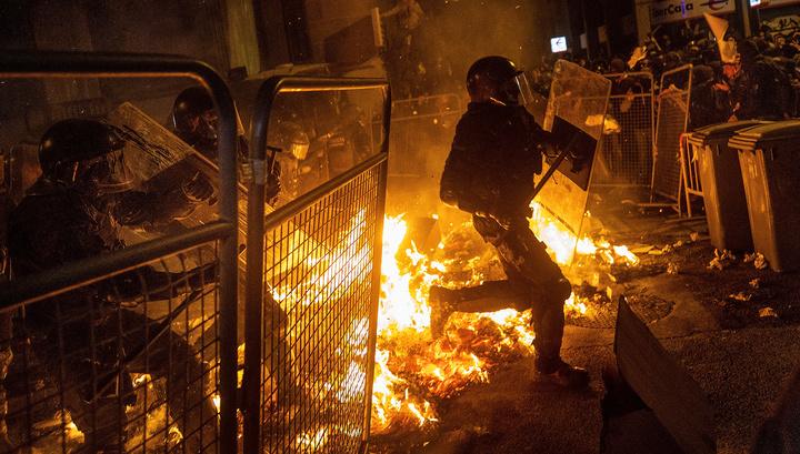 В Барселоне вновь начались беспорядки