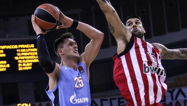 """Баскетбол. """"Зенит"""" одержал первую победу в Евролиге, обыграв """"Олимпиакос"""""""