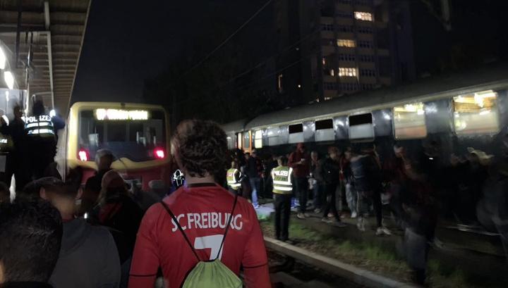 В Берлине загорелся поезд, есть пострадавшие