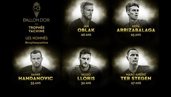 France Football назвал номинантов на премию Льва Яшина