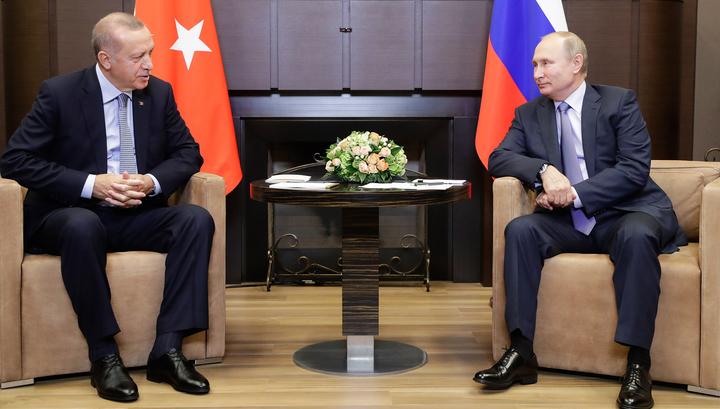 Переговоры Путина и Эрдогана в Сочи длятся уже более 5 часов