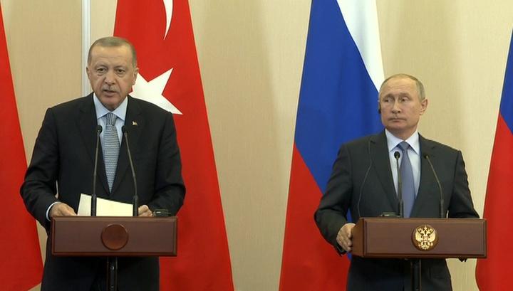 6-часовые переговоры Путина и Эрдогана увенчались подписанием меморандума