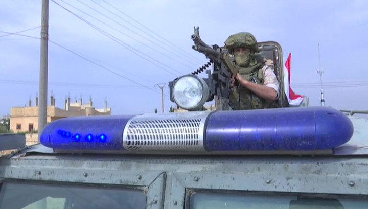 Военная полиция РФ начала патрулировать сирийско-турецкую границу
