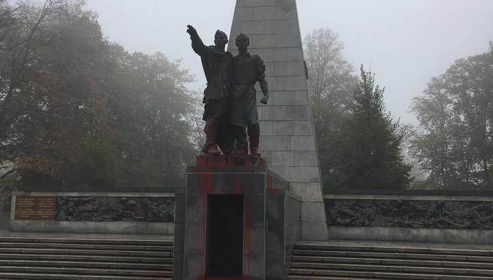 Памятник красноармейцам осквернен в чешском городе Остраве