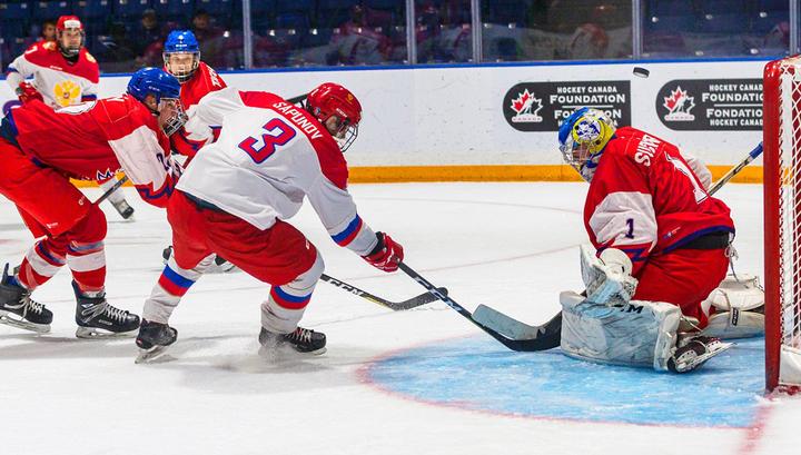 Российские хоккеисты вышли в финал юниорского Кубка вызова photo