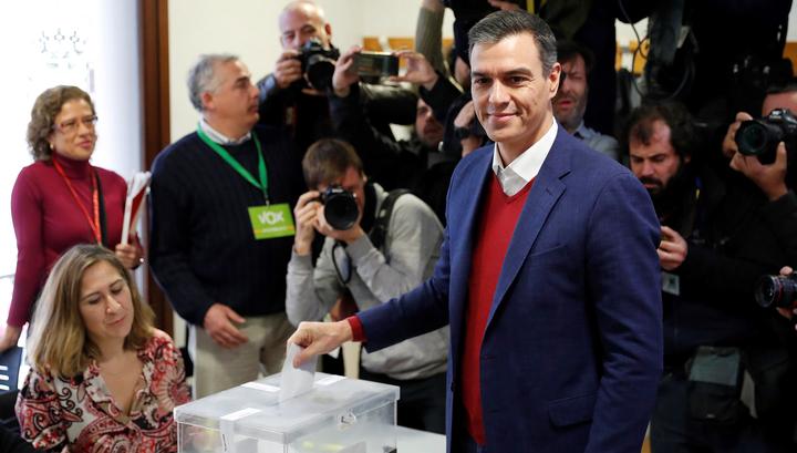 Социалисты могут получить больше трети мест в испанском парламенте