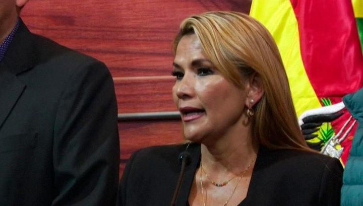 Вице-спикер сената Аньес приняла на себя полномочия президента Боливии