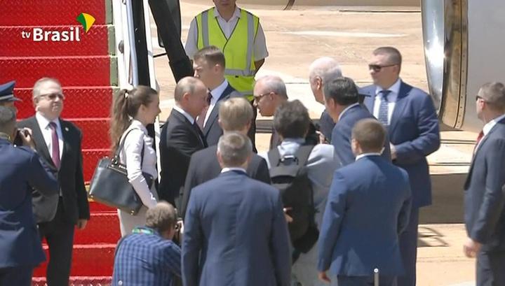 Путин прибыл в Бразилию, где примет участие в саммите БРИКС
