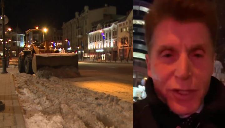 Снегопад заставил главу Приморья добираться на работу пешком