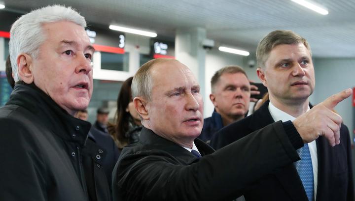 Путин стал одним из первых пассажиров Московских центральных диаметров