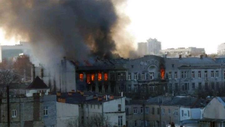 В Одессе объявлен траур после пожара в колледже