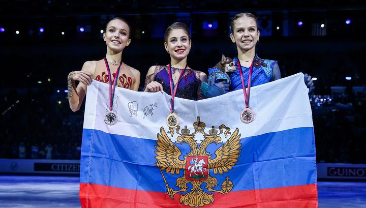Фигуристки Косторная, Щербакова и Трусова заняли весь пьедестал финала Гран-при