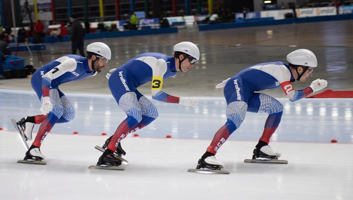 Коньки. Россияне выиграли зачет Кубка мира в командных гонках преследования