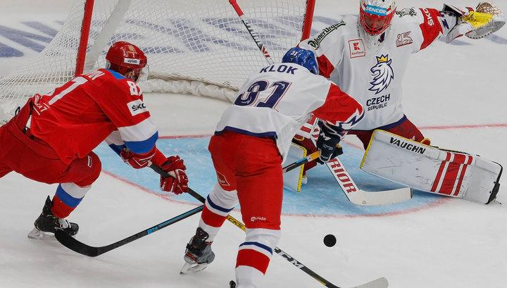 Российские хоккеисты победили чехов на домашнем этапе Евротура