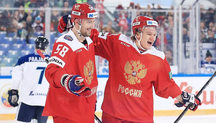 Сборная России обыграла финнов в матче Евротура