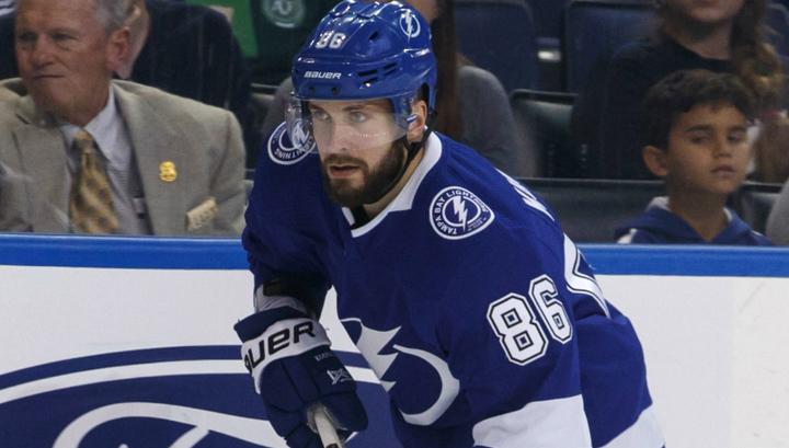Никита Кучеров признан второй звездой дня в НХЛ