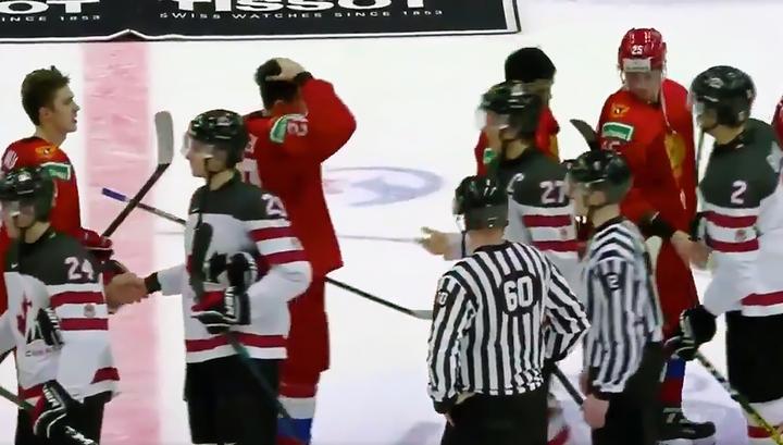 Российские хоккеисты отказались пожимать руку капитану канадской молодежки