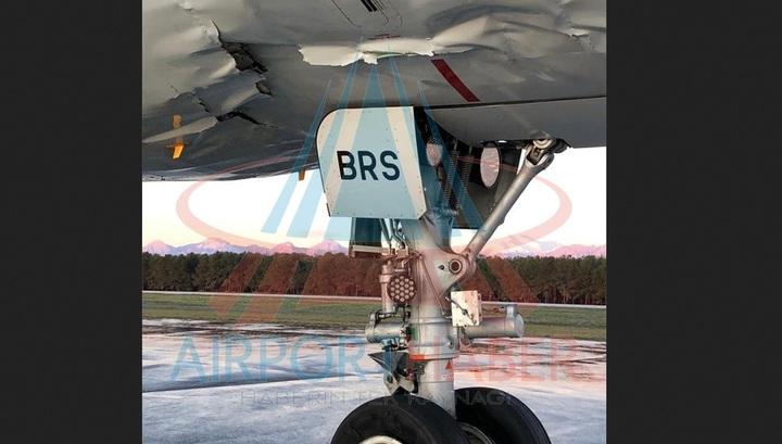 Появились фото с места жесткой посадки лайнера Airbus российской авиакомпании в Анталье