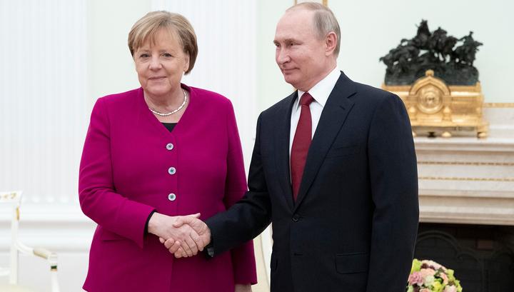 Началась встреча Путина и Меркель