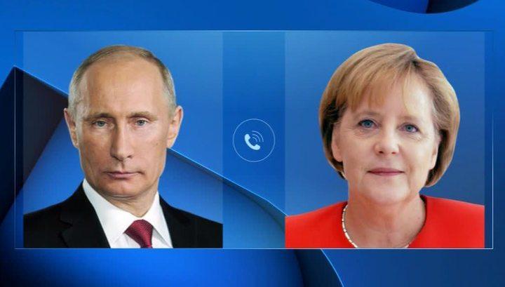 Владимир Путин проинформировал Ангелу Меркель о московских переговорах по Ливии