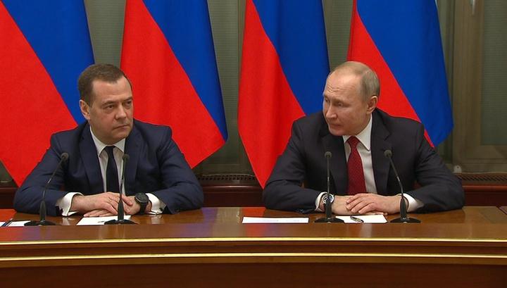 Путин предложил ввести должность замглавы Совбеза и назначить на нее Медведева