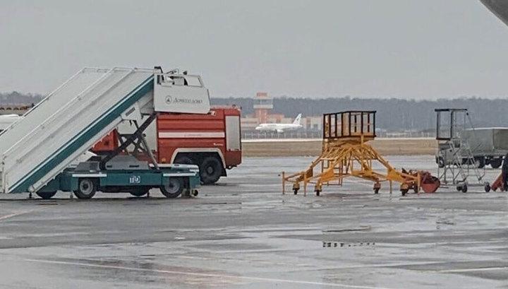 SSJ-100 экстренно сел на недостроенную полосу в Домодедове