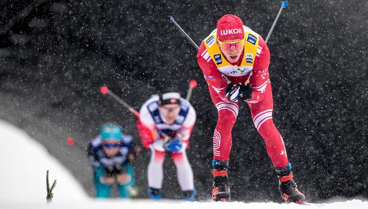 Золотой дубль Александра Большунова на этапе Кубка мира по лыжам