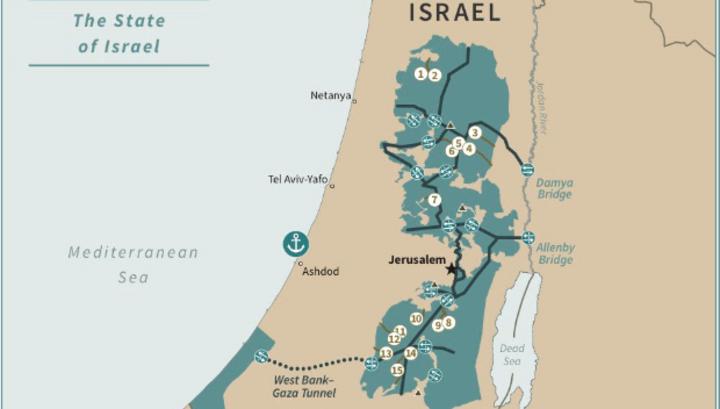 Трамп набросал в Twitter очертания будущего палестинского государства
