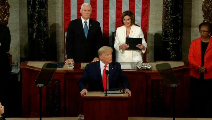Трамп выступил перед конгрессом с ежегодным посланием