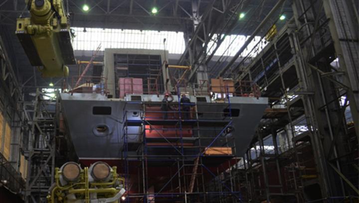 Первый фрегат с российским двигателем спустят на воду до 1 июля