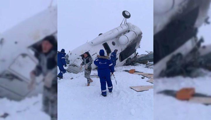 Два человека погибли в попавшем в снежную бурю Ми-8 на Ямале